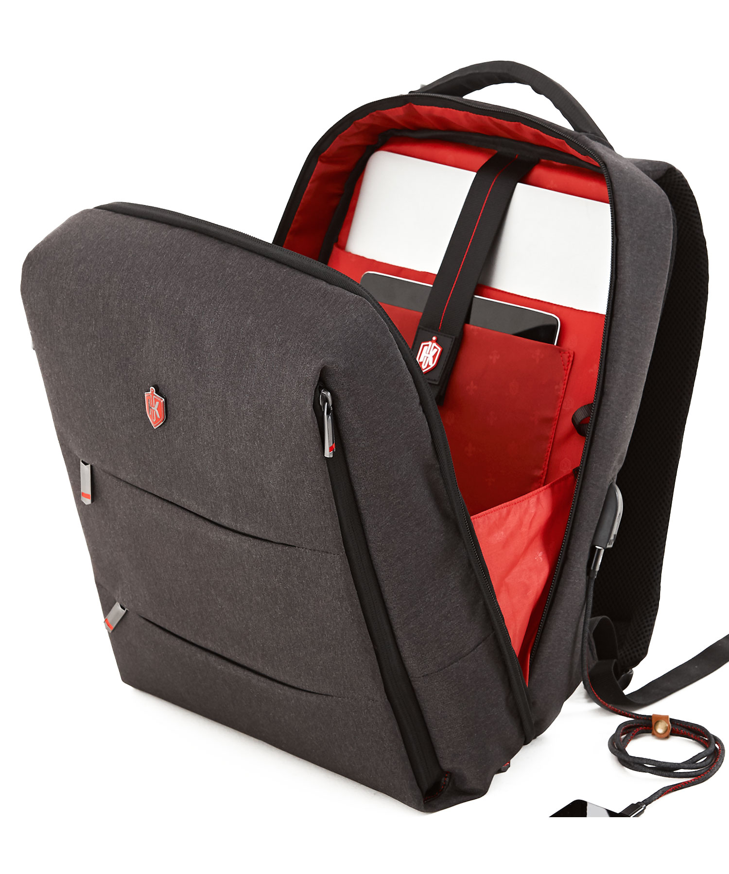 small formal backpack compartment