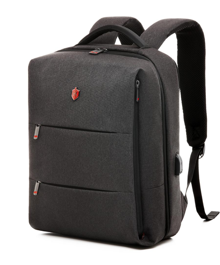 Krimcode Business Formal Backpack – Dark Grey 19L  – Front View