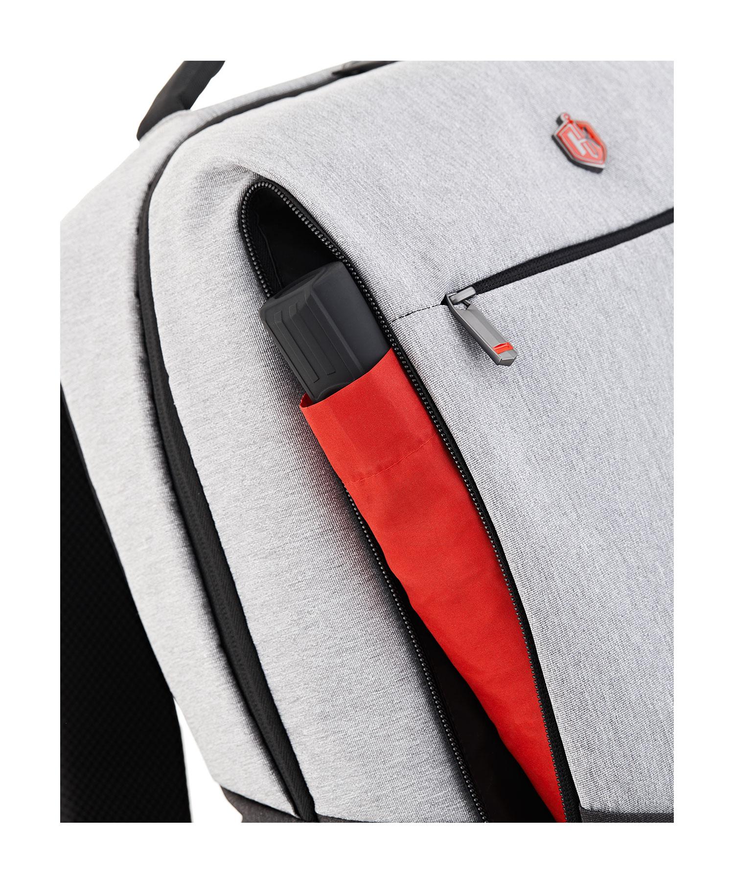 formal backpack front pocket