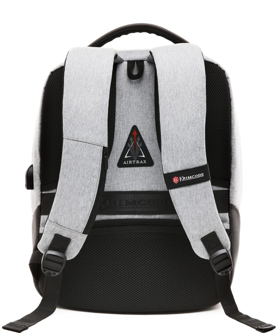 Krimcode Business Formal Notebook Backpack – KBFB07-1NLGM – back