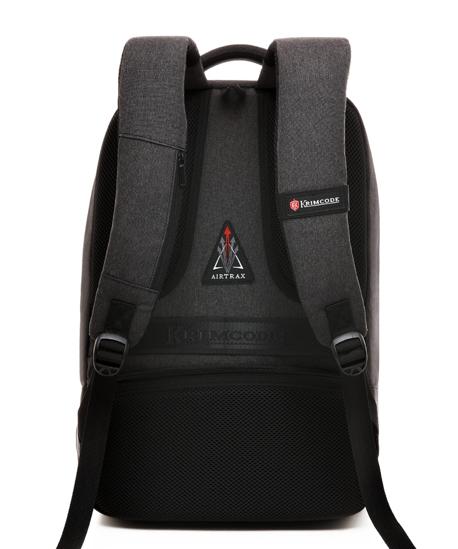 back of formal backpack