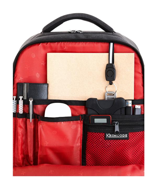 Krimcode Business Formal Notebook Backpack – KBFB15-1NDGM – Detail 1
