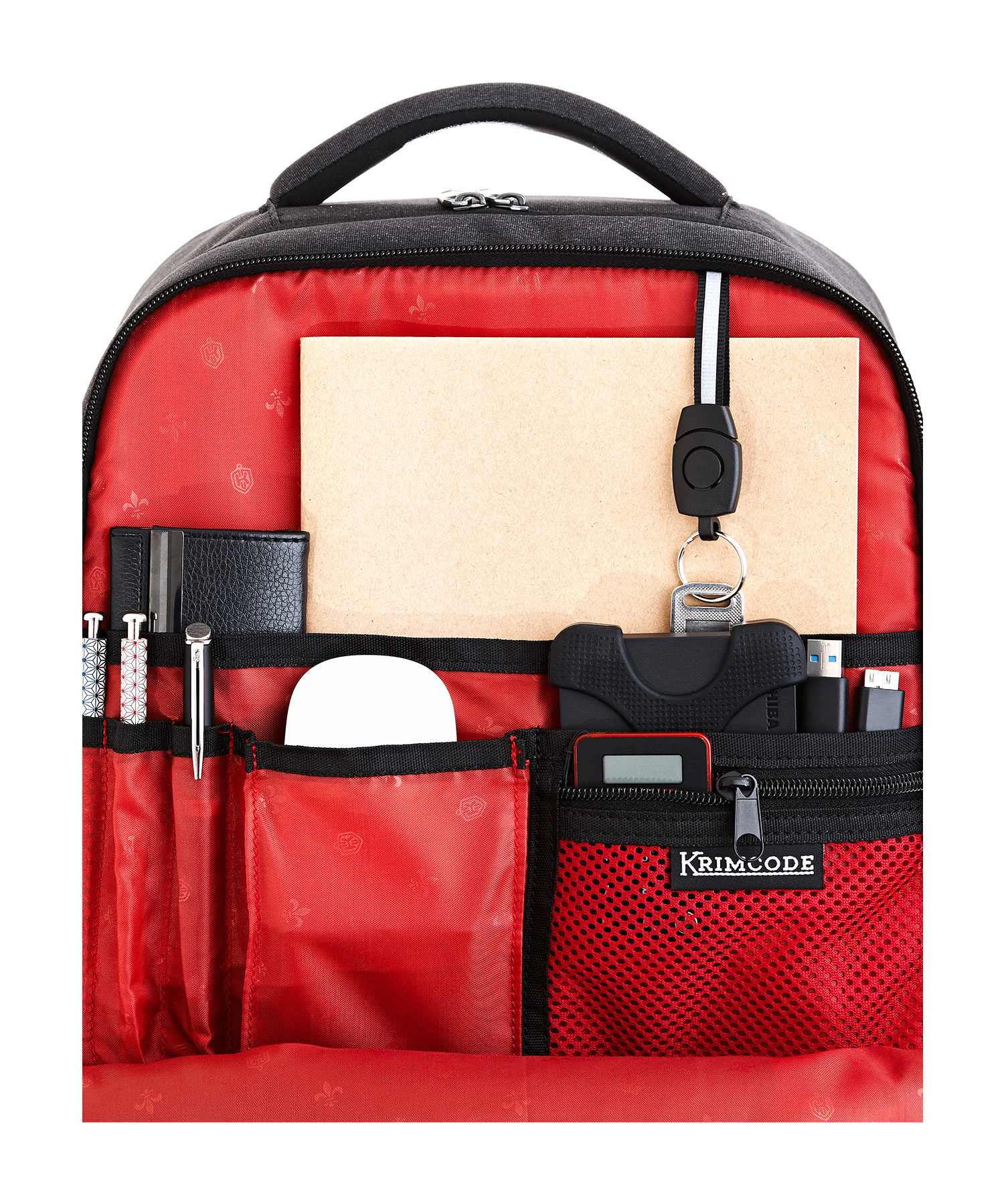 formal backpack compartment