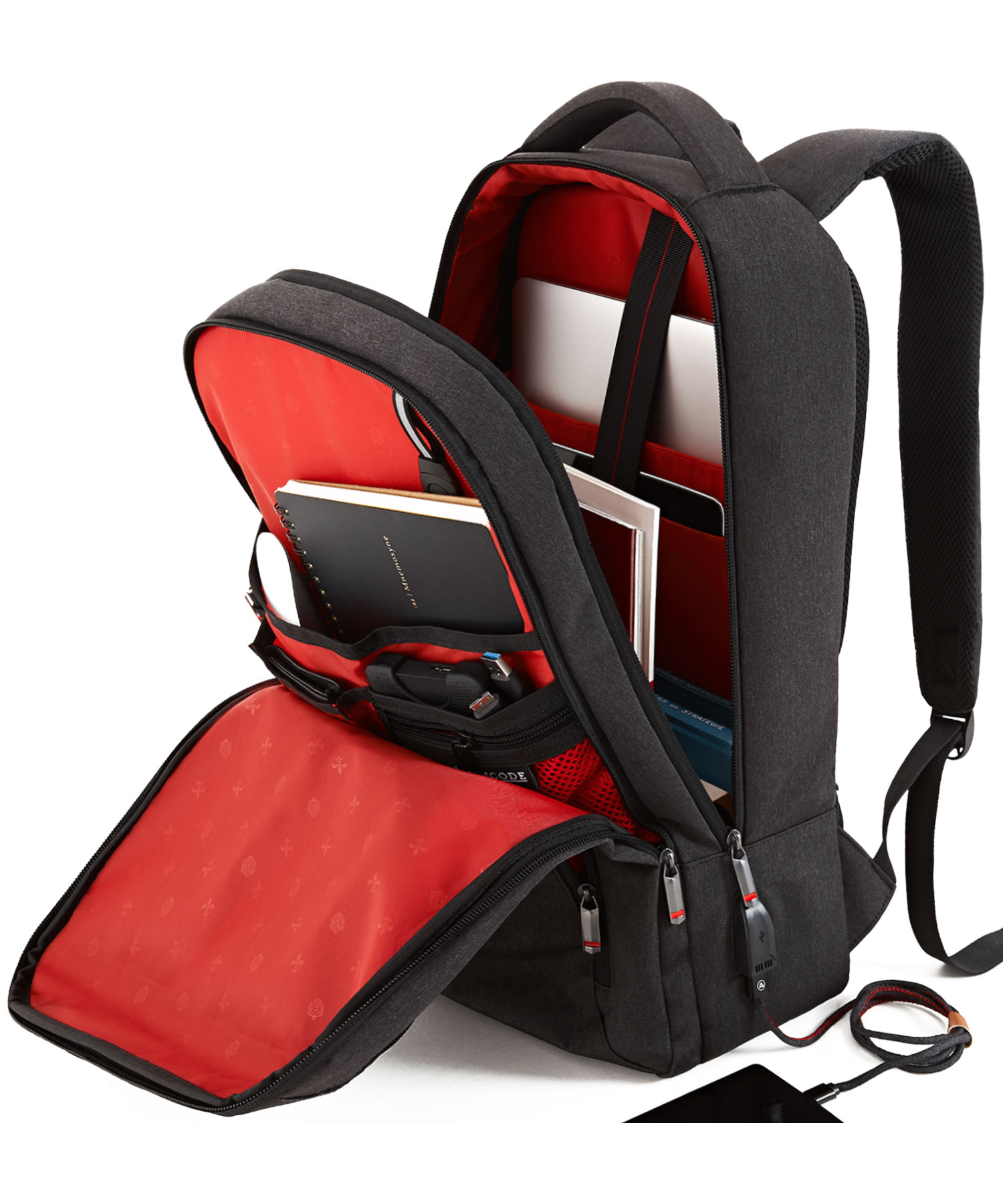 formal backpack compartments