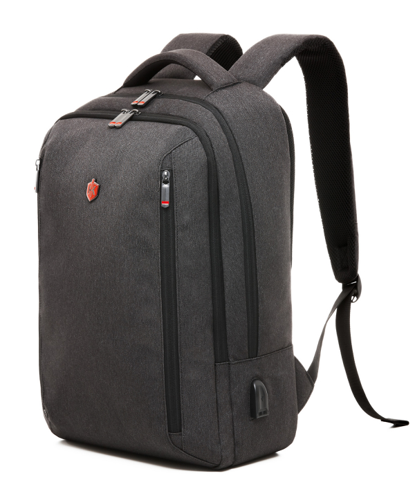 dark grey backpack