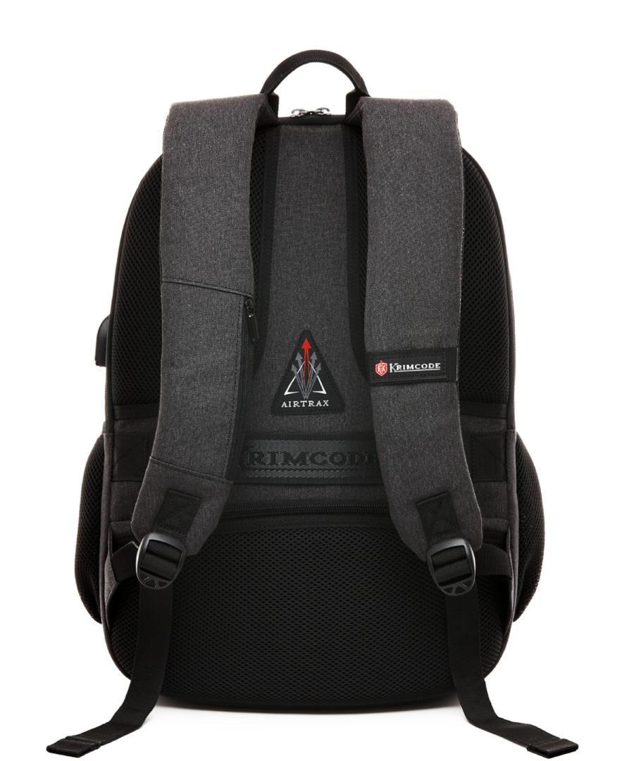 Krimcode Business Formal Notebook Backpack – KBFB22-1NDGM – back