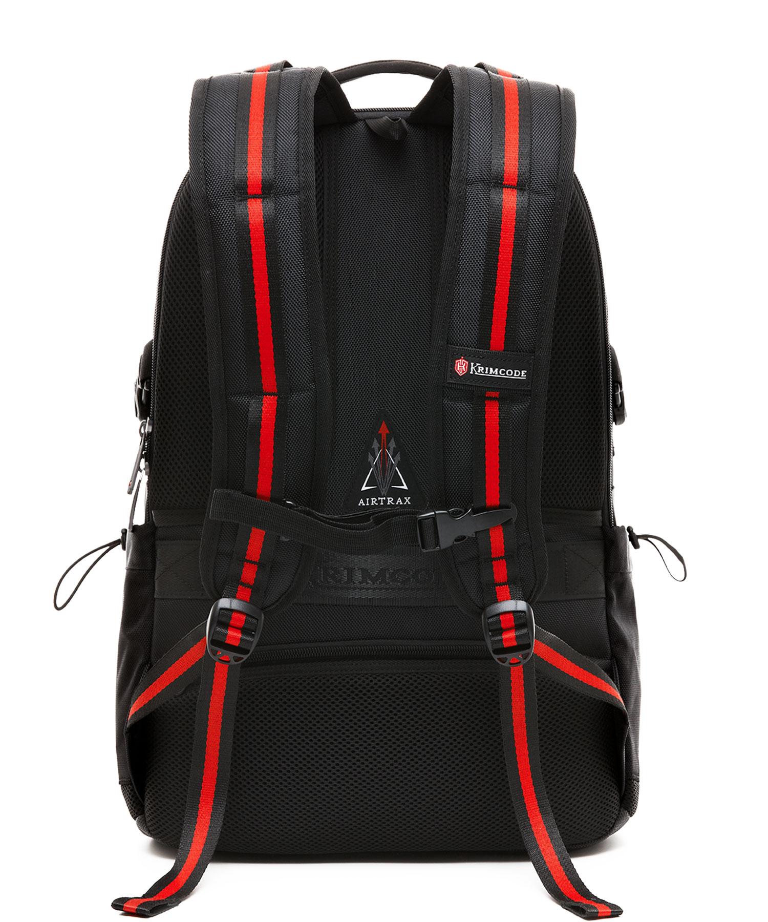 back of krimcode backpack