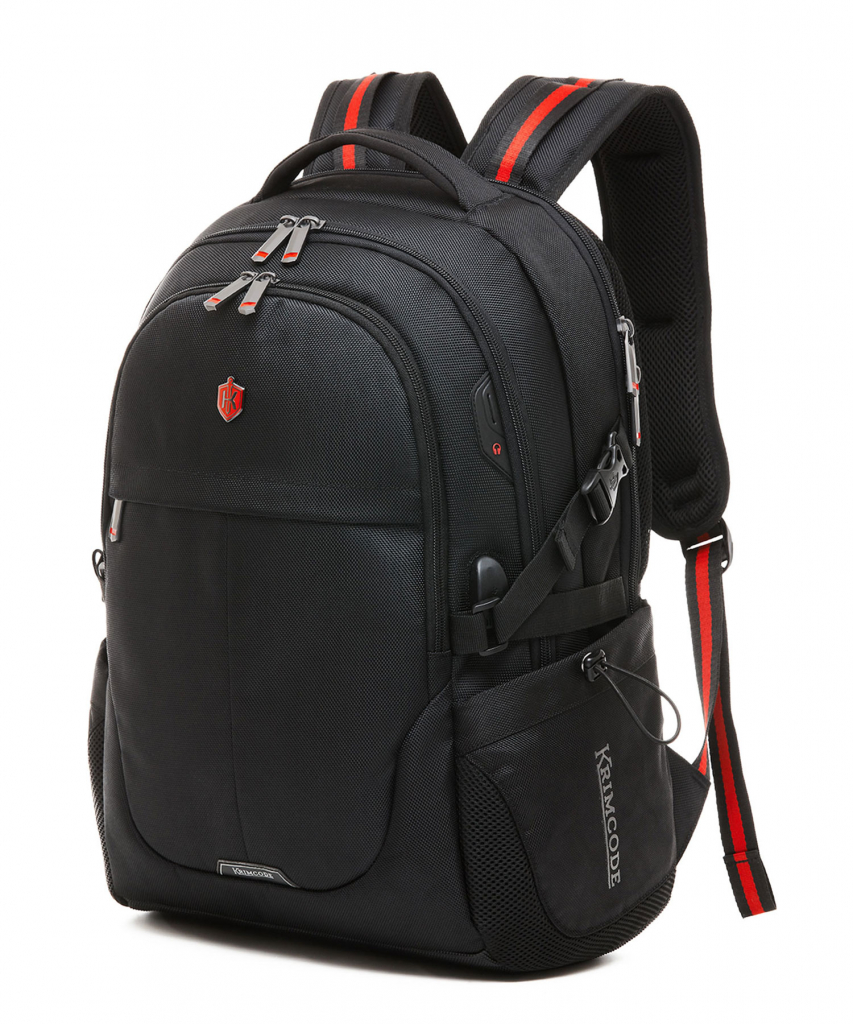 cool backpacks for men - krimcode backpack front view