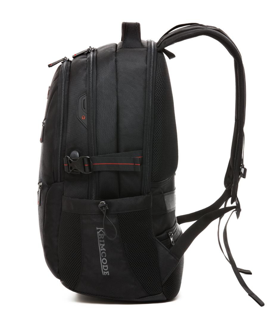 Krimcode Business Formal Notebook Backpack – KSCB08-1U0SM – left