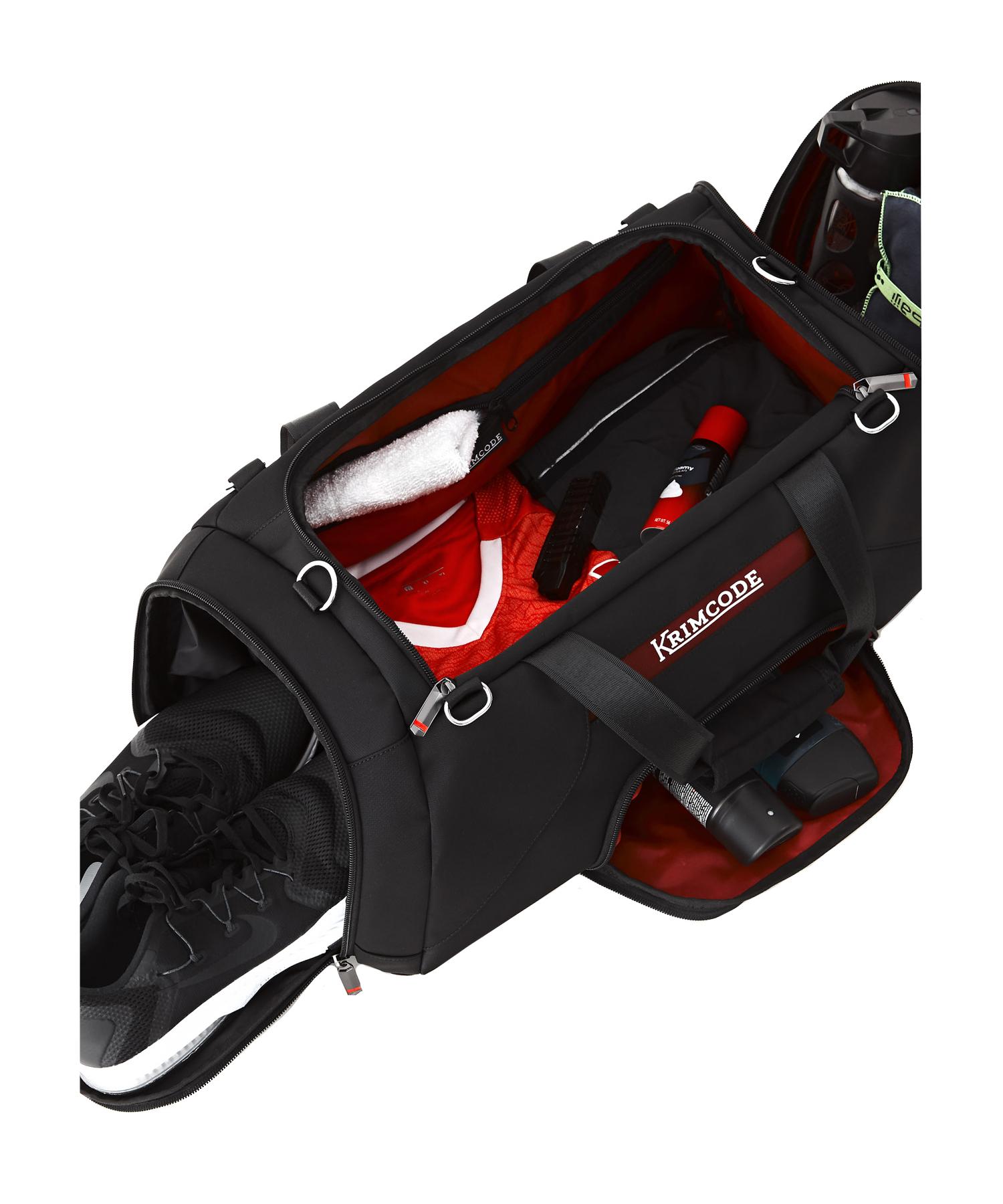 Krimcode Sport Attire Duffle Bag Packed