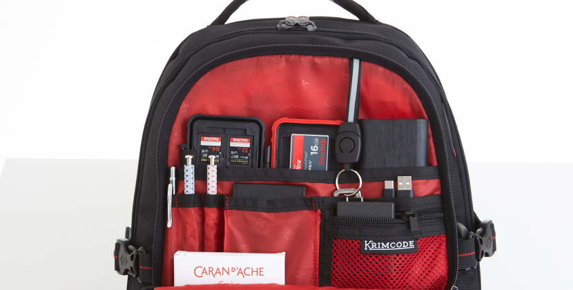 front compartment krimcode backpack
