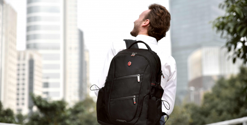 guy with smart casual backpack