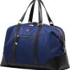 blue duffel bag