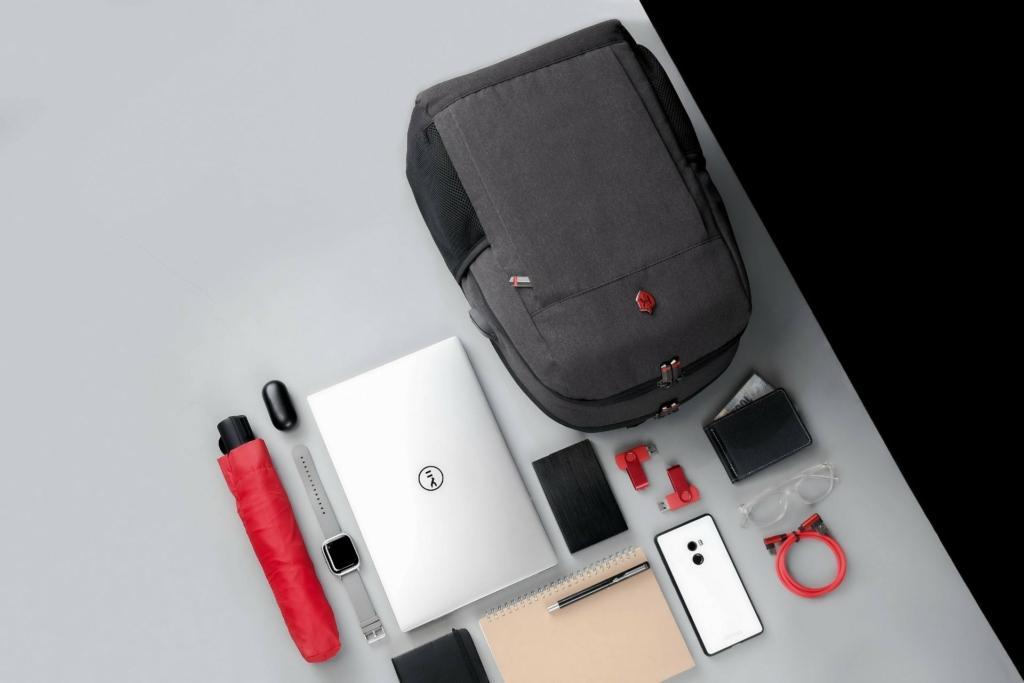 Krimcode Business Formal Backpack: Classic 1 Dark Grey