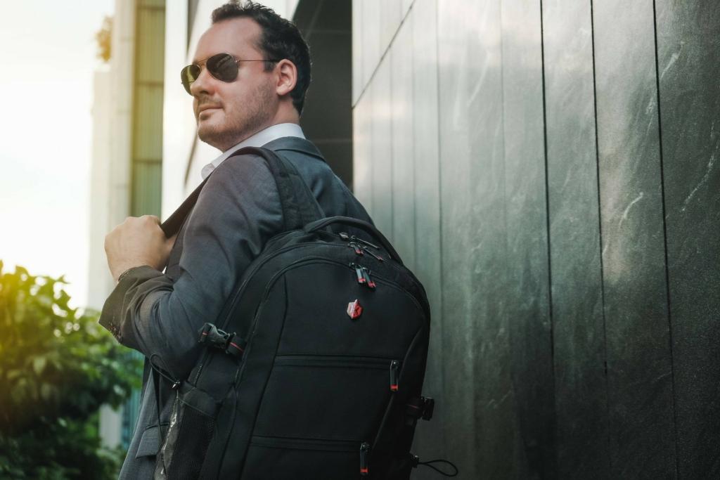 Krimcode Smart Casual Backpack (Double Front Zipper)